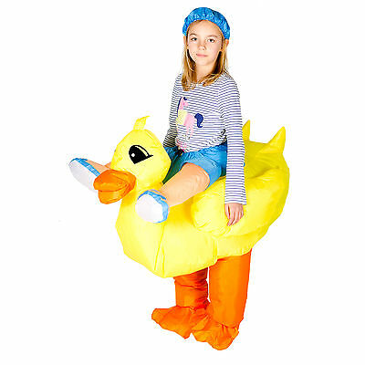 Kids Child Childrens Funny Inflatable Animal Duck Fancy Dress Costume Outfit