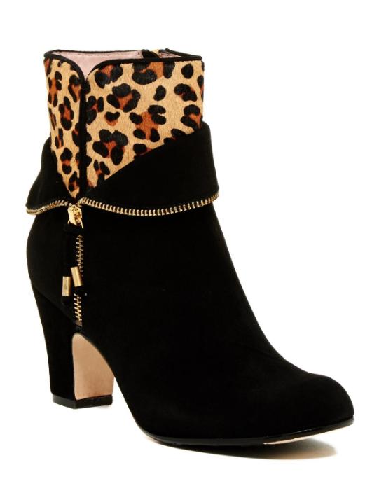 Taryn rosado Mujer Negro tempie Leopardo Pelo Genuino Genuino Genuino Pantorrilla Bota Talla 10 M 7034  alta calidad general