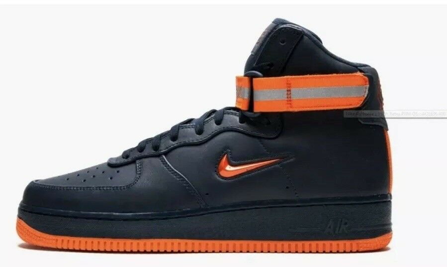 Nike Air Force 1 High Retro PRM QS Reflective Boots NYC NYFD AO1636 400 Size 10