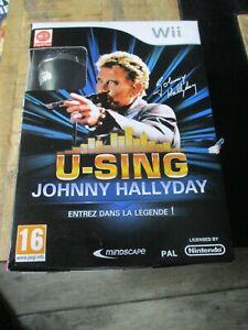 Johnny Hallyday-Coffret micro,karaoké,20 succès,jeu WII-Jamais ouvert,neuf