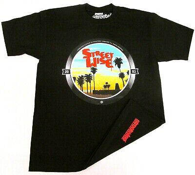 STREETWISE Venice Beach California T-shirt Cali Sunset Tee Adult Men Black NWT
