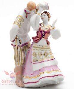 Dulevo Porcelain Russian Folk Dancing Quadrille figurine handmade souvenir