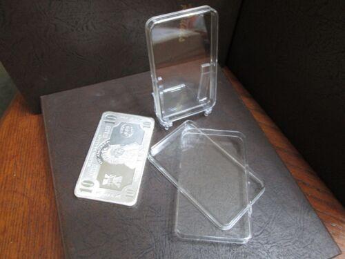 Dix 10 oz Air-Tite marque Direct Fit Capsule Support Pour estampillé argent bars environ 283.49 g