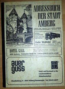 Adressbuch-Amberg-Stadt-1979-Oberpfalz-alt-Buch-Einwohner-Ahnenforschung