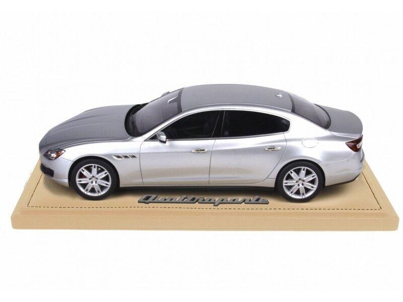 BBR Models Project 18 Maserati Quattroporte Couleure argent 2013 Modellino