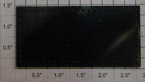 "Acme 1000X-30 G 1.34/"" x 2.71/"" Black Riveted Flat Panel"