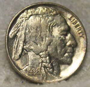1936 P Buffalo Nickel Full Horn Au