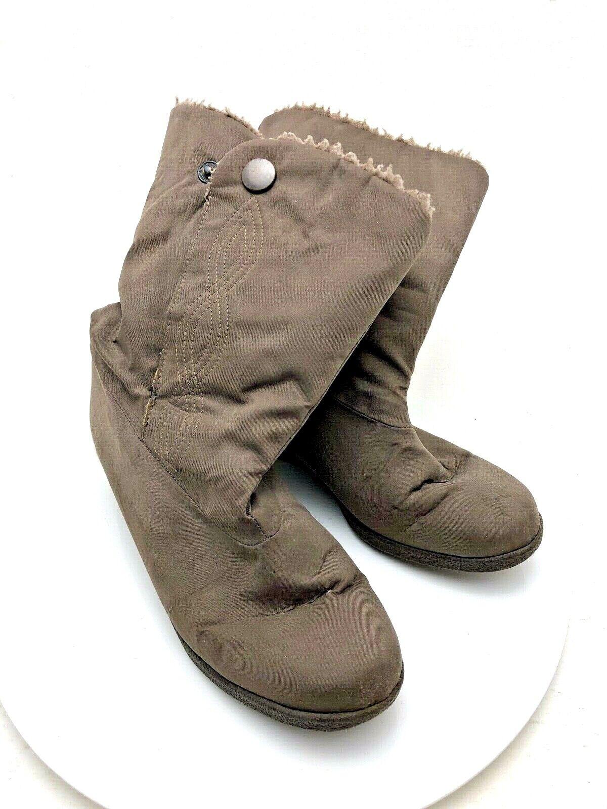 Pair of Ladies Size Clarks Waterproof UK 4 37 Comfort Boots Brown