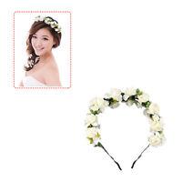 Handmade Bride Floral Flower Crown Headband Hair Garland Festival Wedding