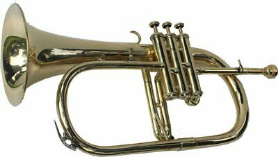 SALE BRAND NEW BRASS Bb FLUGEL HORN+FREE CASE+MOUTHIPICE+FAST SHIPPING