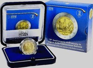 Coffret-2-euros-commemorative-ITALIE-2018-Constitution-Italienne-Qualite-BE