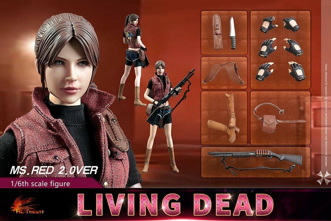 1 6 12  Figura Hot corazón FD008 MS. Rojo 2.0 Resident Evil Living Dead Set Claire