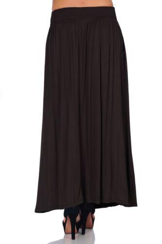 SR Women/'s High Waist Shirring Long Maxi Skirt w// Pockets Size: S-5X