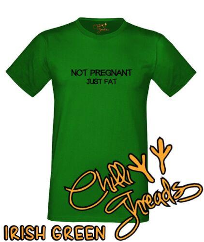sinueuse Pas enceinte juste gras gras blague T-Shirt Débardeur T-shirt humour gourmandise