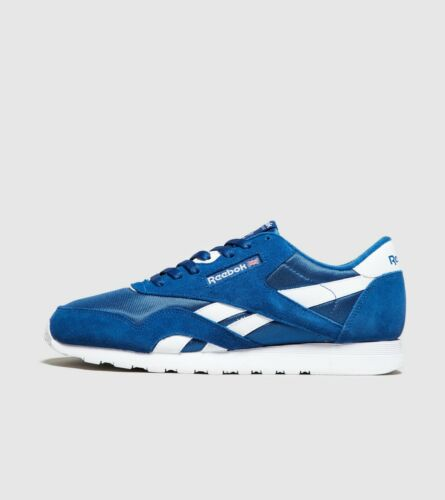 UK Sizes 6-10 ⚫100/% Authentic Reebok Classic Leather Men/'s Trainers Blue