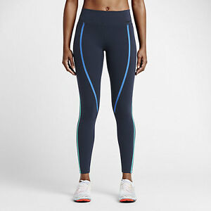Nike-Power-Legendary-Womens-Mid-Rise-Training-Tights-XS-S-Blue-Jade-Running-New