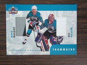 1999-00-Be-A-Player-Memorabila-Rookie-amp-Traded-Teammates-TM-3-Mark-Messier-Roy