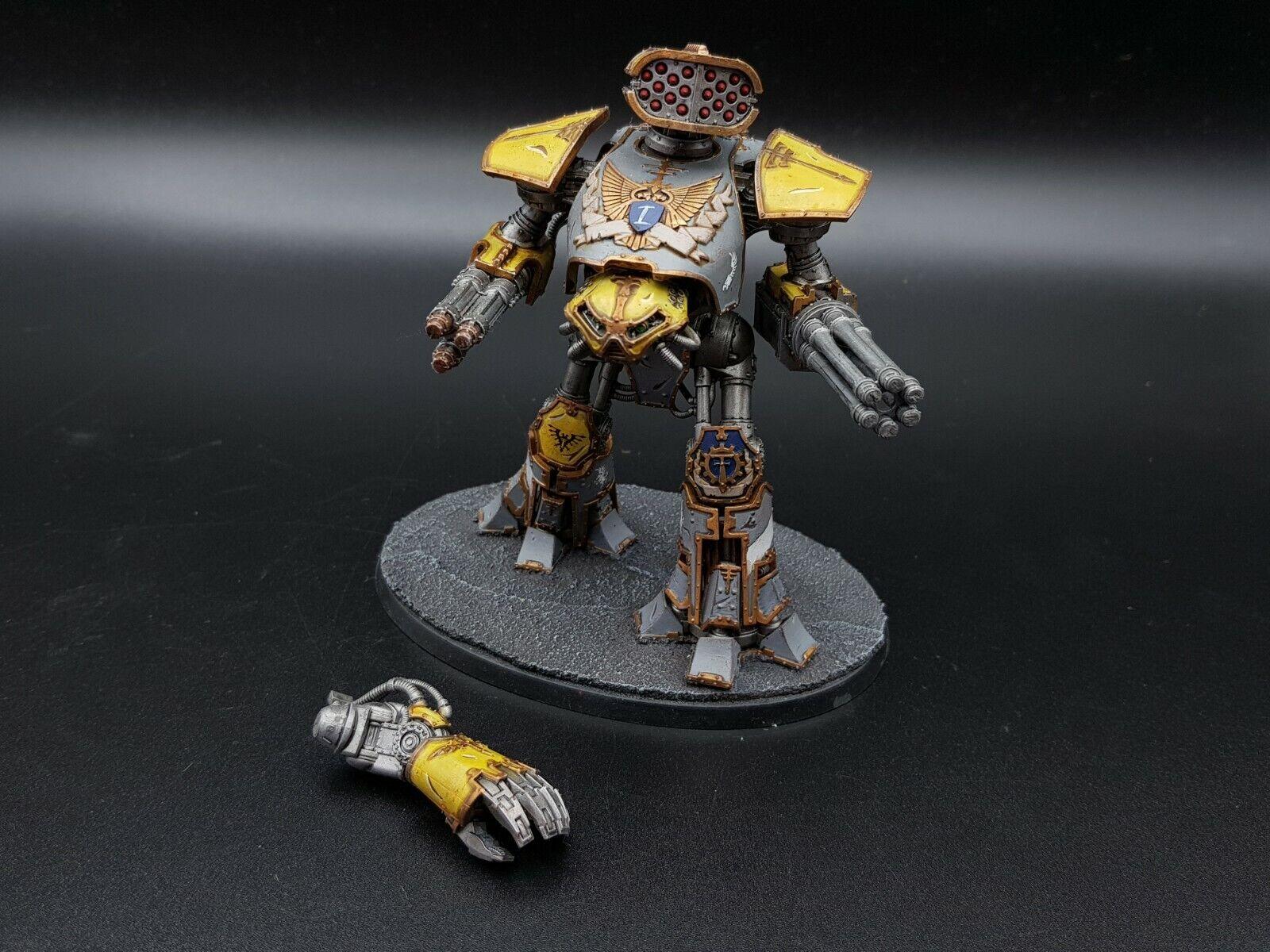 Warhammer 40k Adeptus Titanicus Reaver Titan Magnetized Pro Painted Painted  2 R2S1B2
