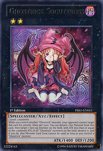 1x Yugioh PRIO-EN051 Ghostrick Socuteboss Rare Card