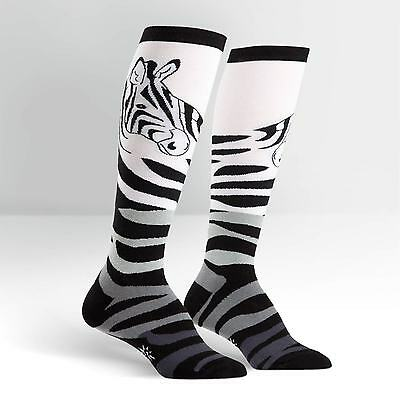 Sock It To Me Women/'s Over the Knee Socks Black /& White Striped