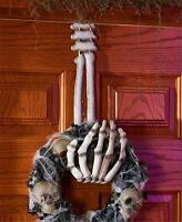 Skeleton Hand Wreath Hanger Halloween Door Wall Spooky Home Decor