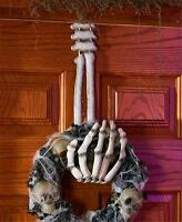 Skeleton Hand Wreath Hanger Halloween Door Wall Spooky Home Decor