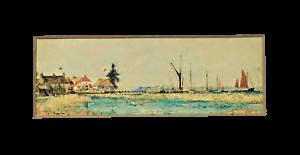 Charles-Edward-Dixon-1872-1934-Itchenor-1911-original-riverscape-watercolour