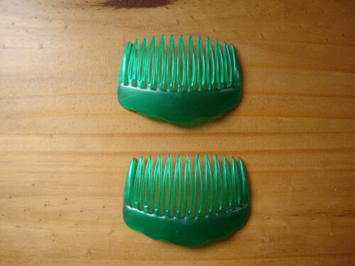 18 x  Einsteckkamm Muschel gewölbt Kämme Haarkamm Haarschmuck grün 1107