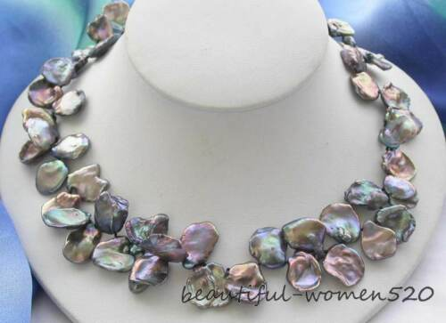 X0282 big baroque keshi reborn pearl necklace