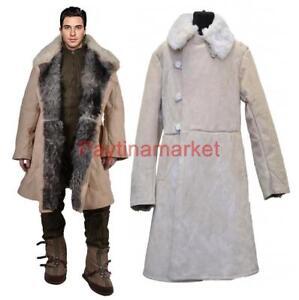 Image is loading Bekesha-Shearling-Jacket-Russian-Army-Officer-Winter -Sheepskin- 55322b80e