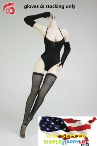 """1//6 women black arm sleeves stocking For phicen kumik 12/"""" figure clothes ❶USA❶"""