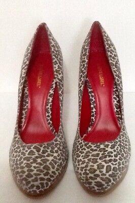 Love Label (BNWT) Estampado Animal Marrón Zapatos Talla EU 40 UK 7