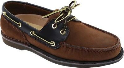 Men/'s Rockport Perth Boat Shoes - Chocolate//Bark Nubuck $125 NEW