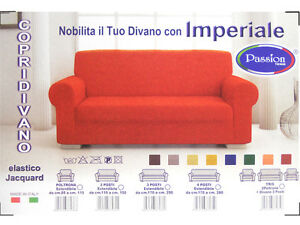 Copridivano imperiale elasticizzato jacquard varie misure e colori made in italy ebay - Misure copridivano ...