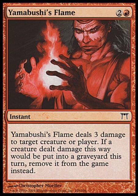 MTG Magic - (C) Champions of Kamigawa - Yamabushi's Flame - SP
