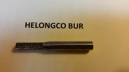 """SET of 5 pieces Carbide Bur Bit SA-14D 3//16/"""" Double Cut Cylindrical No End Cut"""