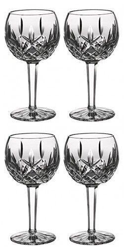 Waterford LISMORE ballon verre vin 8 oz (environ 226.79 g) (4) QUATRE VERRES NEUF  156516