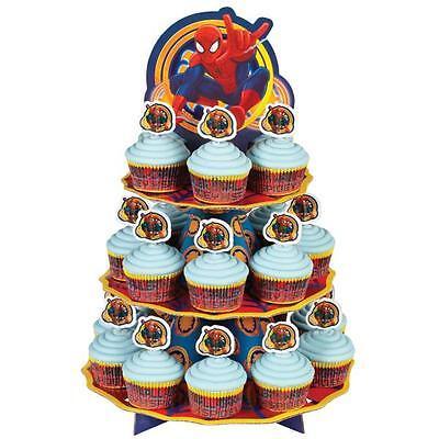SPIDER-MAN Cupcake Treat Stand Centerpiece Birthday party Supplies Decoration
