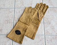 Leather Gloves Gauntlet Renaissance Rapier Sword Fencing Larp Sca Cosplay Brown