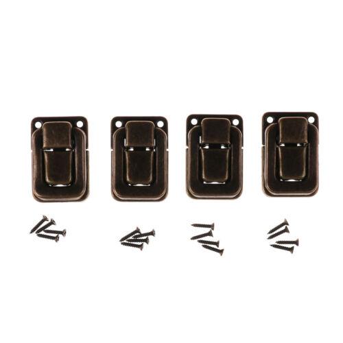 4x Toggle Case Catch Latch Trunk Closure Box chest Suitcase Bag lock 3 Colours