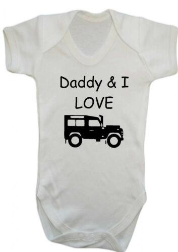Geschenk Babykleider Daddy /& Ich Liebe Land Rover Body Weste Strampler