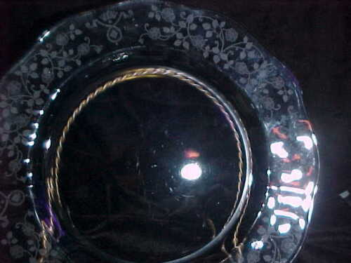 BEAUTIFUL CONDITION CLEAR GLASS FOSTORIA ARCADE 9 3//8 IN DINNER PLATES