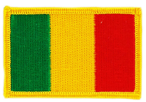 FLAG PATCH PATCHES MALI IRON ON COUNTRY EMBROIDERED WORLD