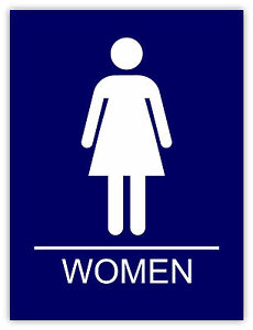 Donne bagno Women Bathroom Frauen Badezimmer etichetta sticker 11cm ...
