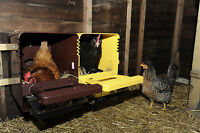 BECS PLASTIC CHICKEN NEST BOX  (NEW) BROWN with roll away tray