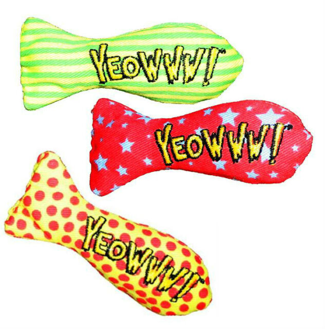 YEOWWW! CATNIP STINKIES CAT TOY - Premium Organic Catnip filled Fish Made in USA