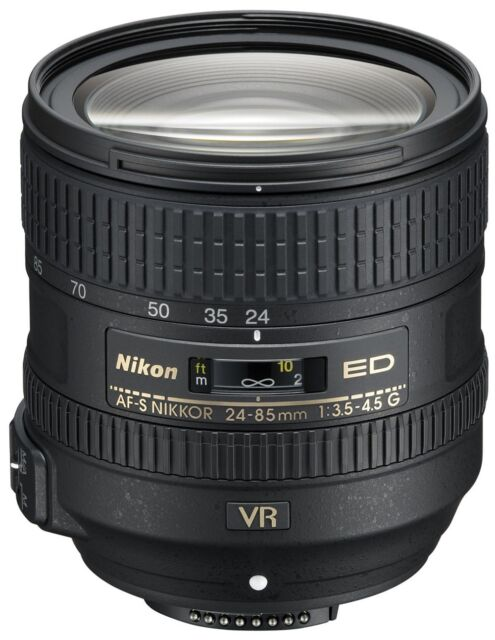 Nikon 2204 NikkorAF-S24-85mm f/3.5-4.5 G ED VR Lens 85 USA WARRANTY FREE SHIP!