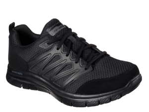 USED Men's SKECHERS FLEX ADVANTAGE 1.0 All Black Athletic Sneakers Shoes 58353 9
