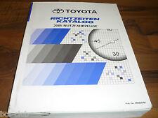 TOYOTA NUTZFAHRZEUG 2005 LKW RICHTZEITEN Katalog ARBEITSWERTE WERKSTATT HANDBUCH