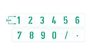 Schablone Nr.5 • Zahlen 5cm hoch • Zahlenschablone und Sonderzeichen 0-9